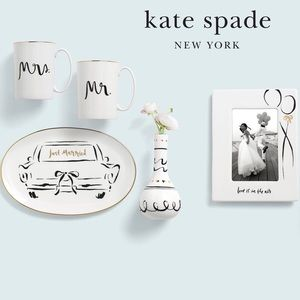Kate Spade Bridal Party Just Married Platter